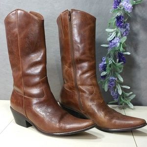 Matisse Made in Brazil Leather Cowboy Boots SZ 9.5